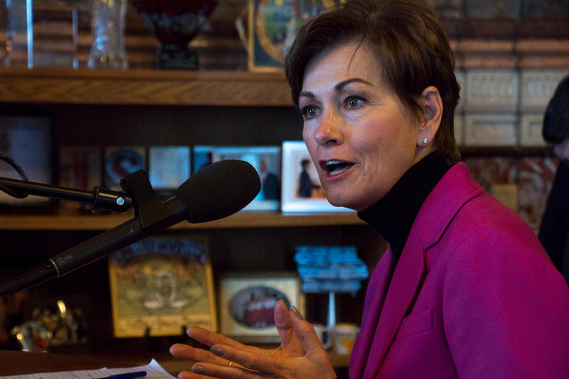 Governor Kim Reynolds speaks with IPR in her capitol office on January 3, 2019.