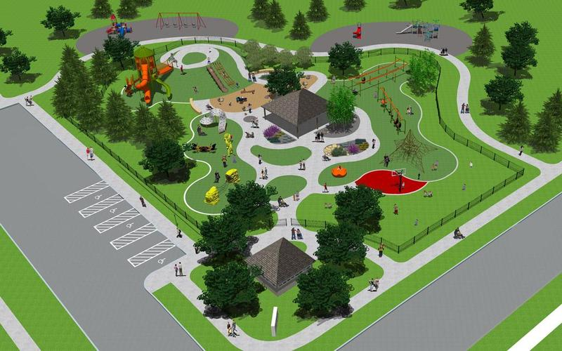 A sketch of what the new park will look like.