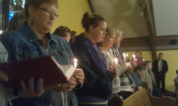Members of the Dayton community in north-central Iowa gathered Wednesday evening for a vigil in honor of 15-year-old Kathlynn Shepard, who is still missing.
