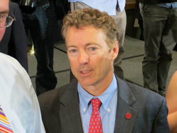 Sen. Rand Paul headlined an annual fundraiser for Iowa Republicans in Cedar Rapids.