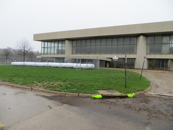 Hancher Auditorium has been climate controlled with propane fuel since the 2008 floods.