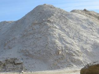 A sand pile at the Pattison Sand Company mine in eastern Iowa's Clayton County. It's the only site in Iowa actively mining for sand to be used in hydraulic fracturing.