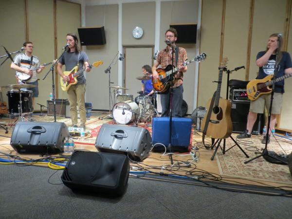 The River Monks performing in IPR's Studio One.