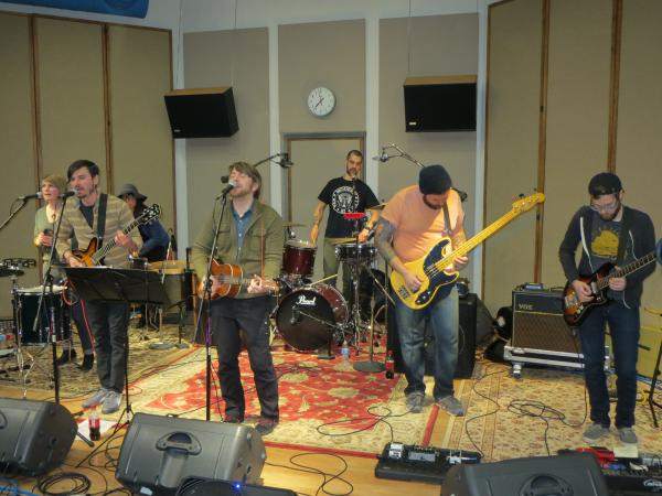 Land of Blood and Sunshine performing in IPR's Studio One.