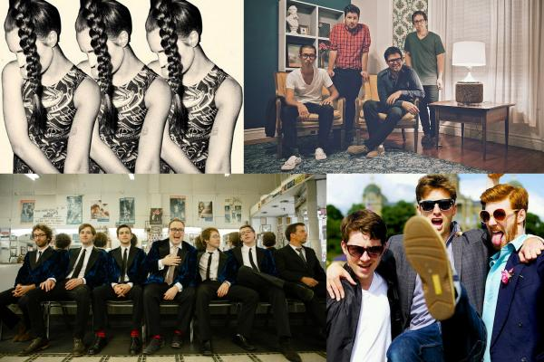 Clockwise from upper left: MØ, St. Paul and The Broken Bones, The Envy Corps, Dylan Sires and Neighbors