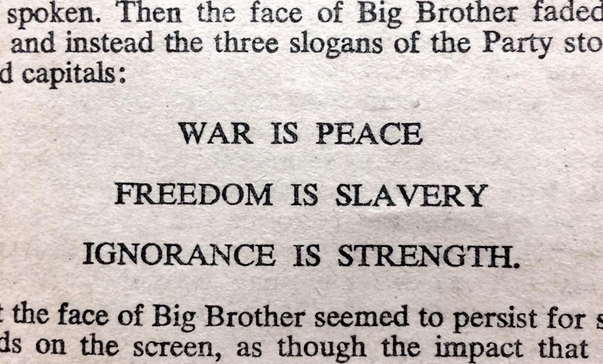 newspeak 1984 essay Newspeak is a name given to the forecoming language of the totalitarian society portrayed in the novel nineteen eighty-four the language itself is a supposed.