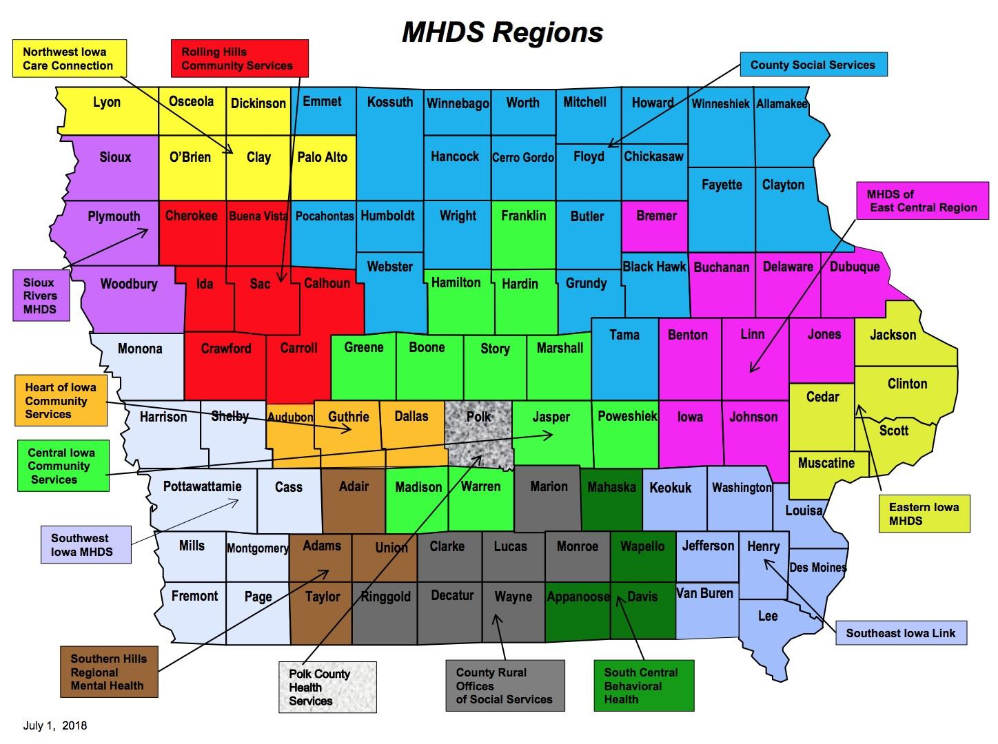 Foxhoven Counties Can Move Mental Health Regions As Long As Core