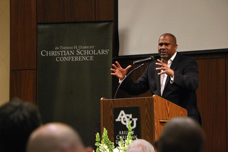 Tavis Smiley spoke about the role poverty plays in American democracy at the Christian Scholars Conference at Abilene Christian University in Abilene, Texas, on June 5, 2015.