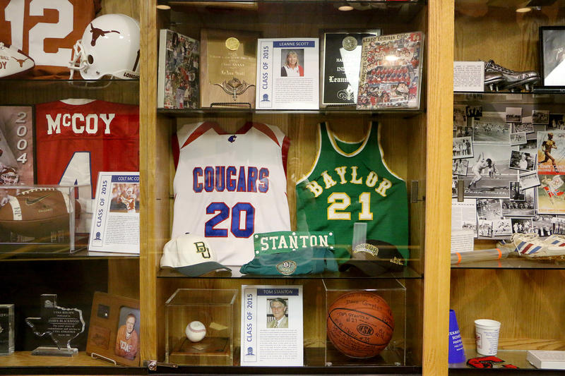 (Photo by Joy Bonala) The Big Country Athletic Hall of Fame is inside the Abilene ISD administration building on North Second and Pine Streets.