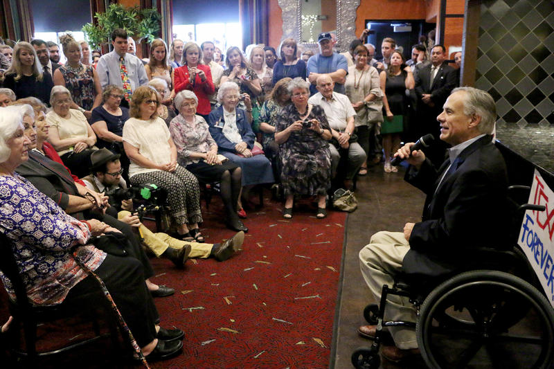 (Photo by Joy Bonala) Gov. Greg Abbott visits Abilene on his nine-city tour to update Texans about the accomplishments of the 84th Legislature on Thursday, October 1, 2015 at Miguel's Mex Tex Cafe.