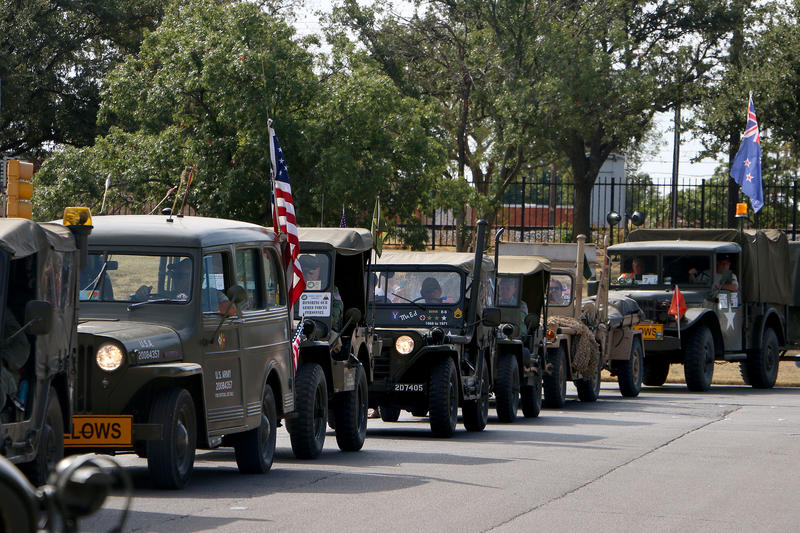 (Photo by Joy Bonala) The Military Vehicle Preservation Association's 2015 Bankhead Highway Convoy makes a visit Wednesday, October 7, 2015 at Abilene's 12th Armored Division Memorial Museum during their drive from Washington, D.C., to San Diego.