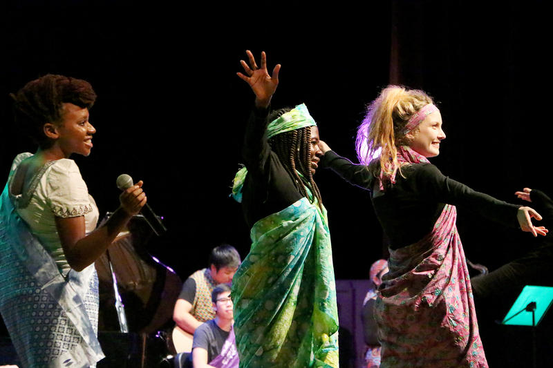 (Photo by Emily Guajardo) Abilene Christian University students perform during the Ethnos Culture Show Friday, November 6, 2015 at ACU.