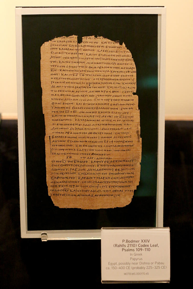 A 1700 year old copy of Psalms 109-110 in Greek.