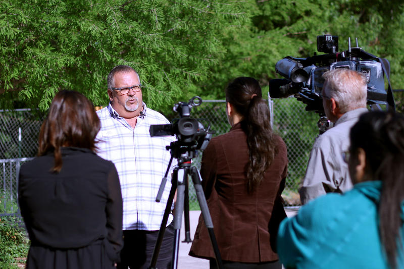 Abilene Zoo Director Bill Gersonde gives an update on the investigation of the jaguar escape.