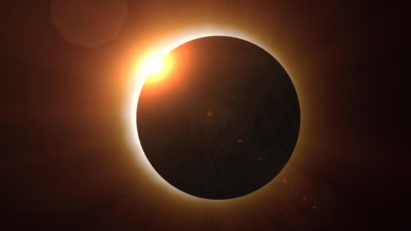 This image shows the Aug. 1, 2008, solar eclipse at the point of totality, when the moon completely blocks out the body of the sun, revealing the normally hidden, halo-like corona.  Credit: The Exploratorium