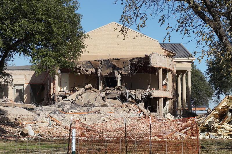 Demolition of Hendrick Home for Children's main building.