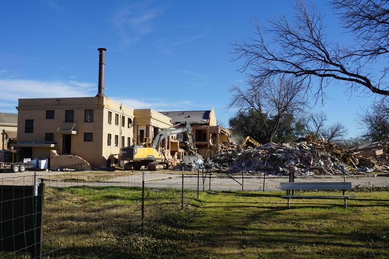 Crews began demolition in November.