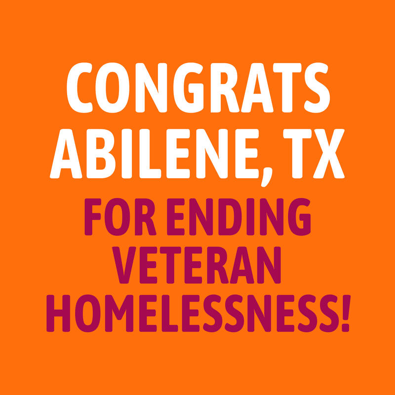 Abilene groups announce successful completion of the Mayor's Challenge to end veteran's Homelessness.