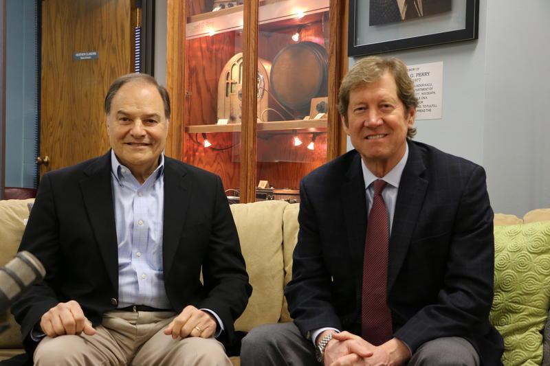 Congressman Nick Lampson (D-TX) and Congressman Jason Lewis (R-MN) visit Abilene with Congress to Campus program.