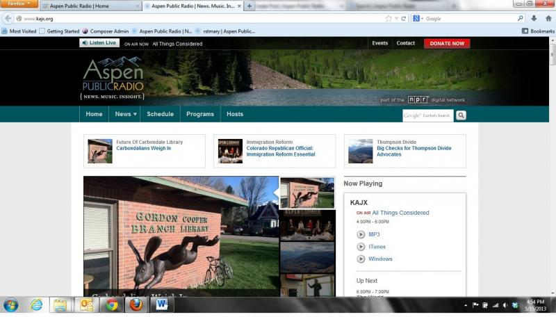 New Aspen Public Radio Site