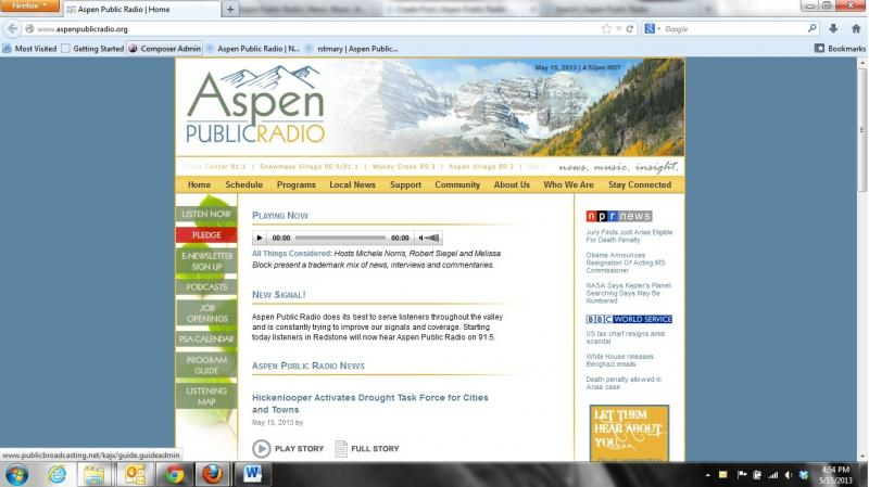 Old Aspen Public Radio Site