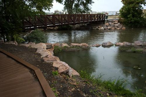 A one mile stretch of the Ogden River through downtown Ogden, Utah went from being a dump for trash to a restored attraction.