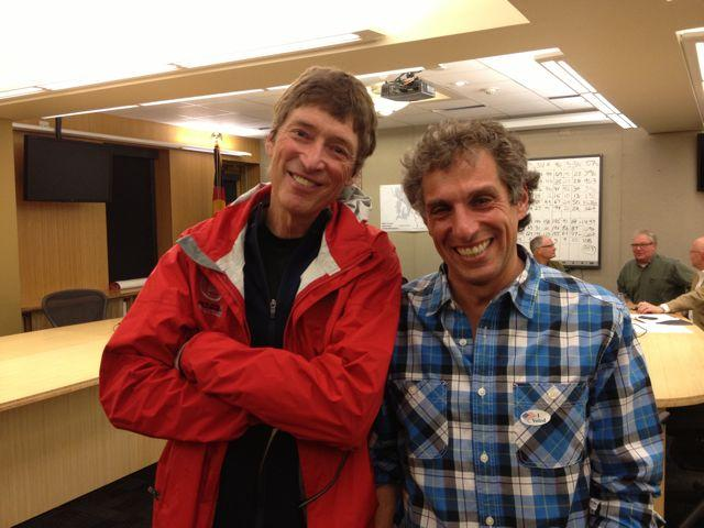 Outgoing Aspen Mayor Mick Ireland and newly chosen run-off contender Steve Skadron.