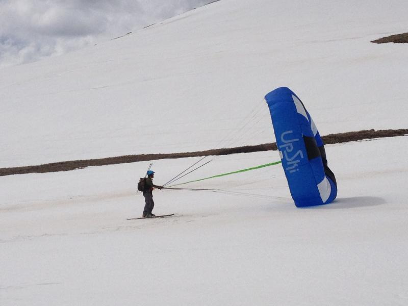 Steven Haines tries an Upski at Independence Pass in May 2013
