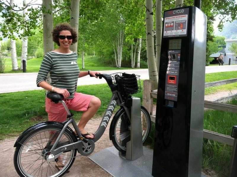 Mirte Mallory helped found We Cycle. There are 100 bikes in the fleet.