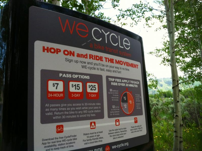 The We Cycle Bike Sharing program launches in Aspen this week.