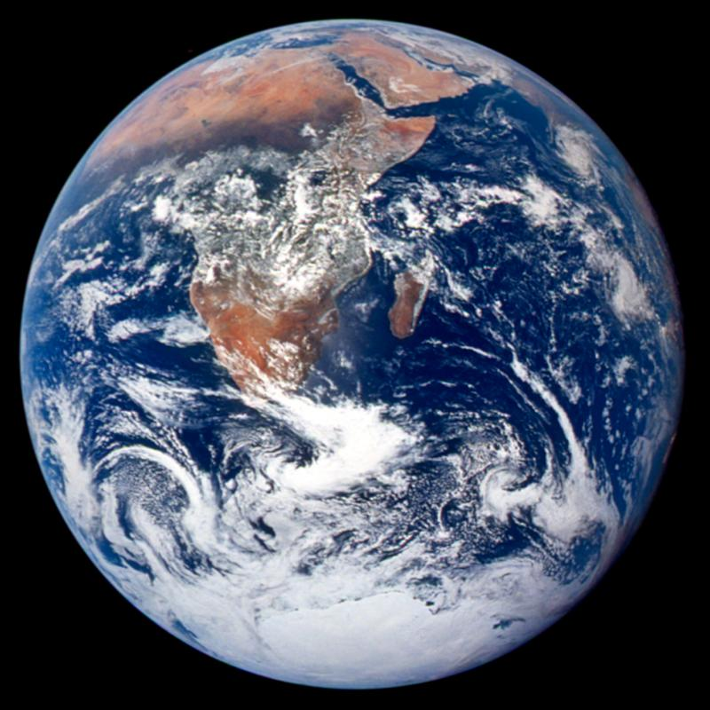 "The ""Blue Marble"" photograph, taken on Apollo 17 in 1972."