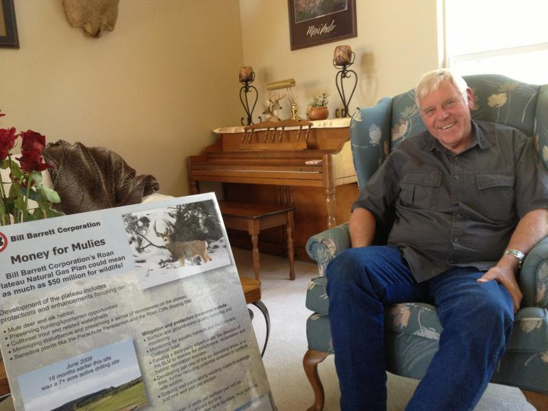 Denny Behrens at his home in Grand Junction.