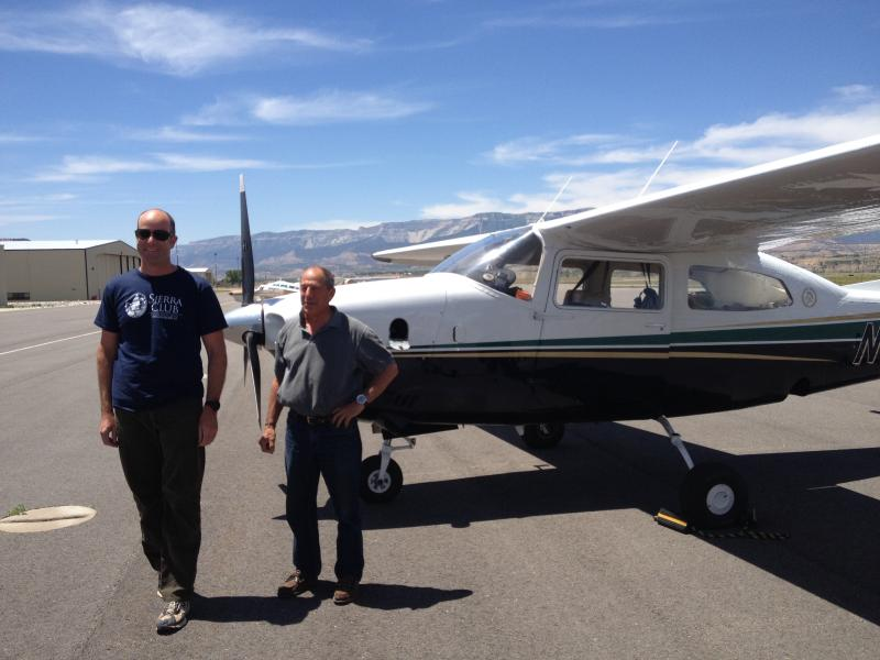 Michael Brune and Bruce Gordon, Garfield County Airport.