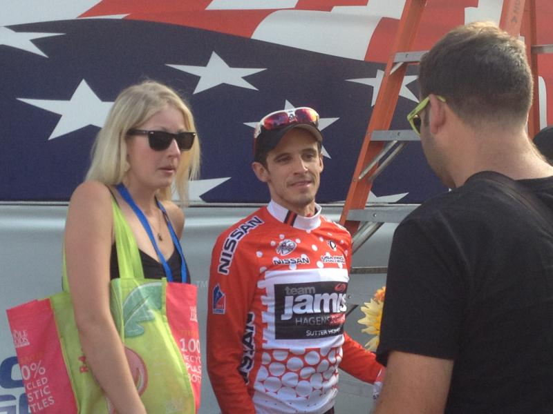 Matt Cooke, pro cyclist with Jamis Hagens Berman, won the King of the Mountains jersey.