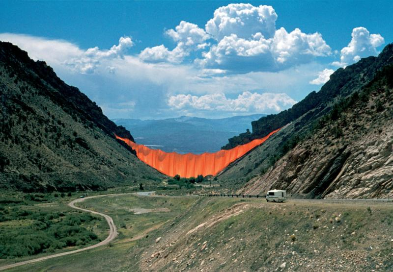 Valley Curtain at Rifle Gap, 1972.
