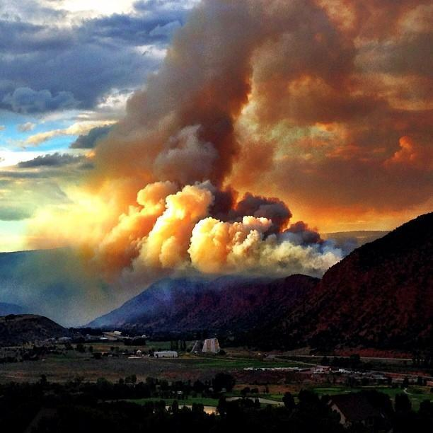 The Red Canyon Fire blew up over Glenwood Springs Monday night.