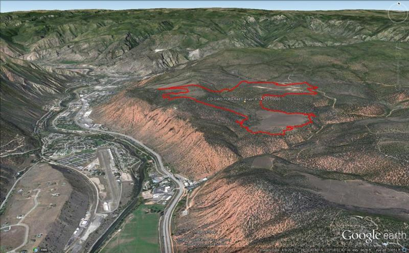 The Red Canyon Fire's perimeter is outlined in red.