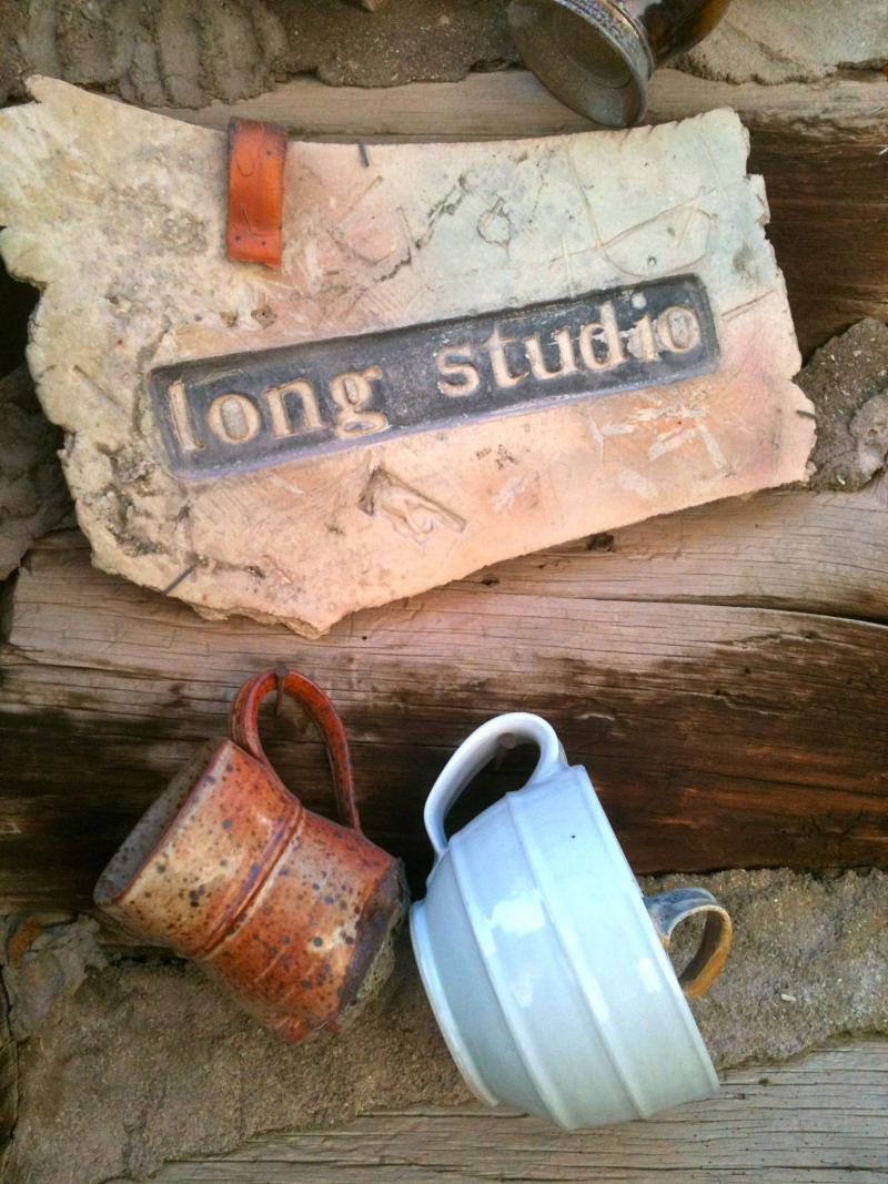 Recycled pieces decorate the exterior of the ceramic studios at the Anderson Ranch Arts Center.
