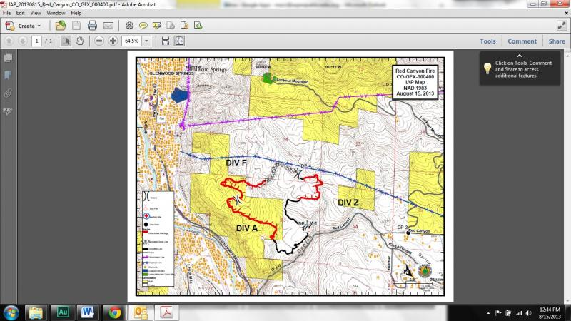 This map shows the perimeter of the Red Canyon Fire.