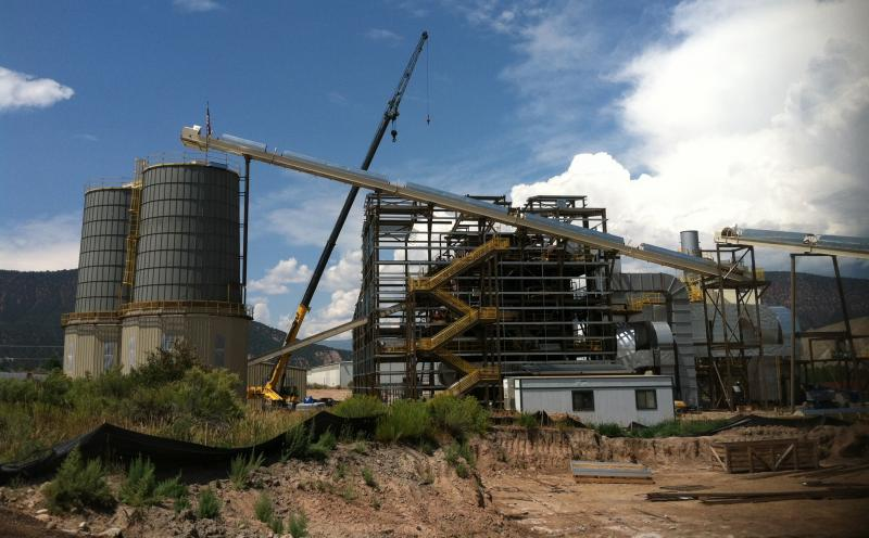 The biomass power plant is set to open in December. Construction there is about 80% complete.