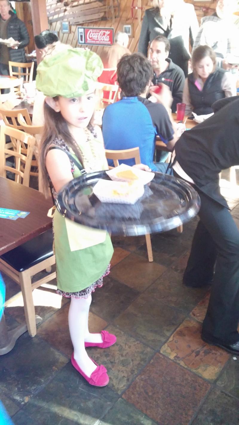 Junior Helper Serving Up the Pie.