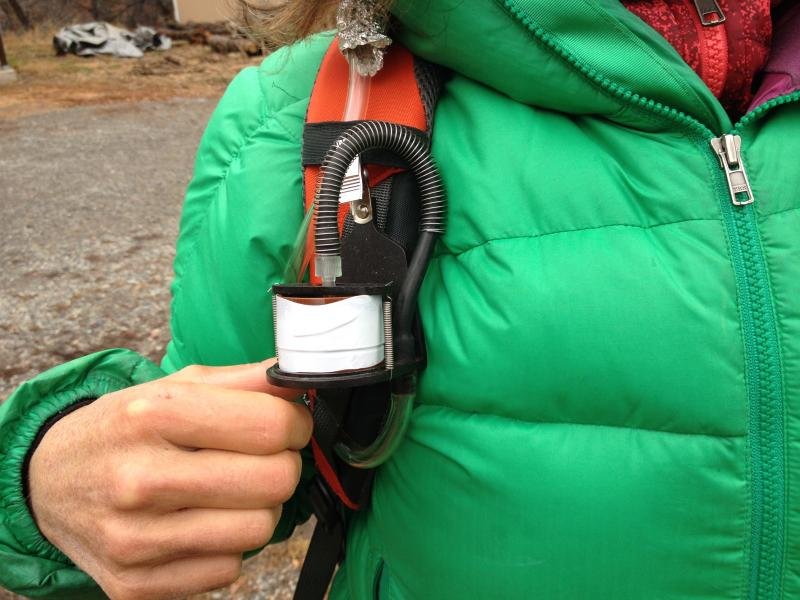 Air sampling device used in study by Citizens for a Healthy Community.