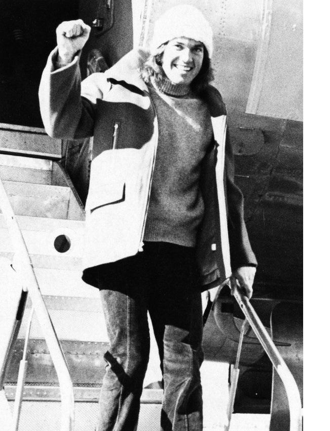 Ski racer Andy Mill is named to the U.S. Ski Team in 1976.