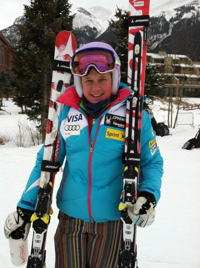 Ski racer Alice McKennis is overcoming a severe leg injury and training for the U.S. Olympic team.