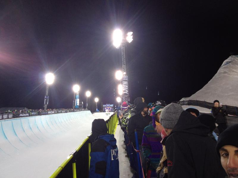 Crowds lined the SuperPipe for men's finals.