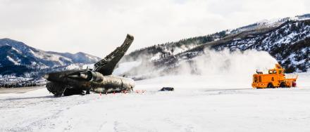 The airplane involved in a crash at Aspen's airport was a Bombardier Challenger 600.