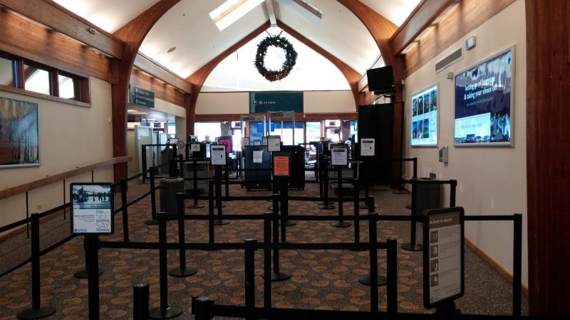 TSA Check-in at the Aspen Airport - January 6th, 2014