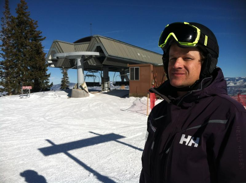 Yannick Rioux is the Terrain Park Manager at Snowmass Village. He oversees a round-the-clock crew that sculpts and maintains the features.
