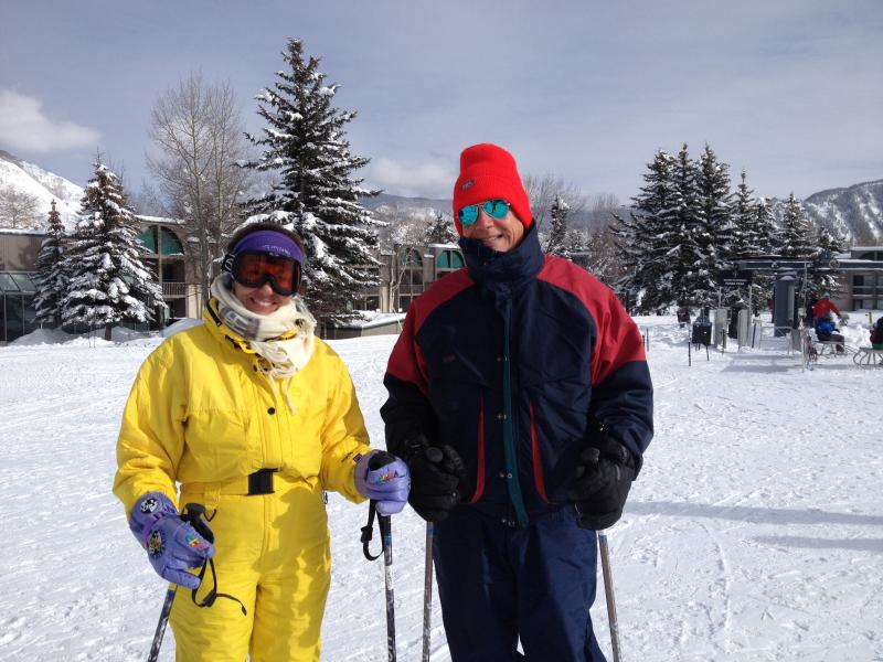 Brazilian citizens Paulo and Lenita Cardoso, enjoying a day at Buttermilk.