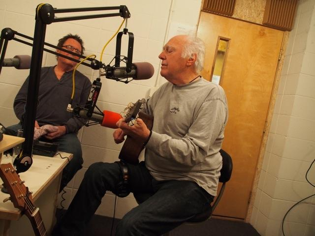 Jimmy Ibbotson & Jerry Jeff Walker in the Aspen Public Radio studios on Wednesday February 12th, 2014.